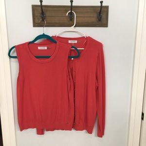 Calvin Klein Sweater Set Coral